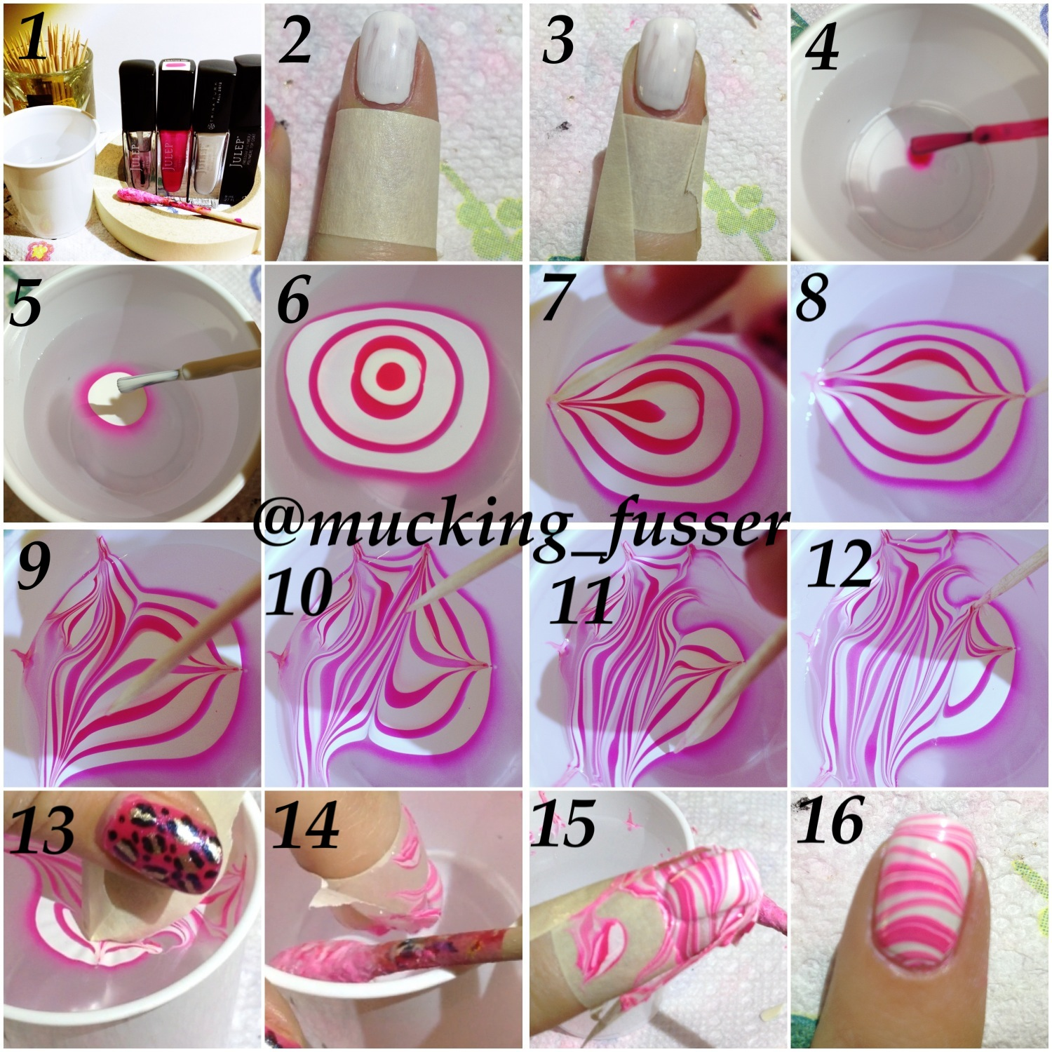 TUTORIAL Striped Water Marble