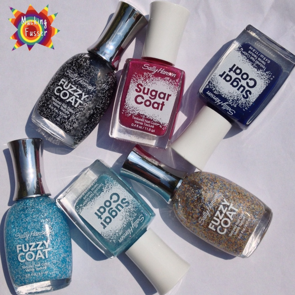 Sally Hansen- Textured Polishes Sugar and Fuzzy Coat Review ...