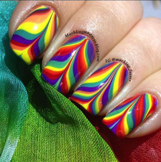 Radical rainbow water marble using bettina mucking fusser img8991 prinsesfo Image collections