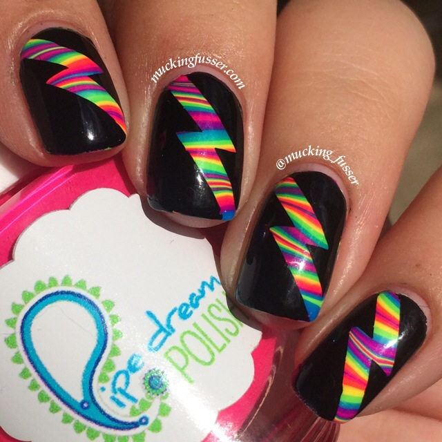 Tutorial rainbow water marbled lightning bolts mucking fusser img3962 rainbow water marble prinsesfo Image collections